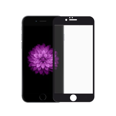 Película de Vidro Coverage Color para iPhone 6 Plus e 6S Plus - Preta - Gorila Shield (Cobre toda tela)