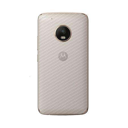 Película Traseira de Fibra de Carbono Transparente para Motorola Moto G5 - Gorila Shield
