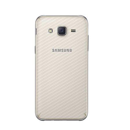 Película Traseira de Fibra de Carbono Transparente para  Samsung Galaxy J5 - Gorila Shield