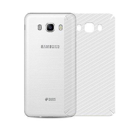 Película de Fibra de Carbono Traseira Transparente para - Samsung Galaxy J7 Metal - Gorila Shield