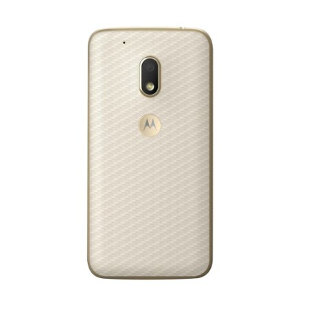 Película Traseira de Fibra de Carbono Transparente para Motorola Moto G4 Play - Gorila Shield