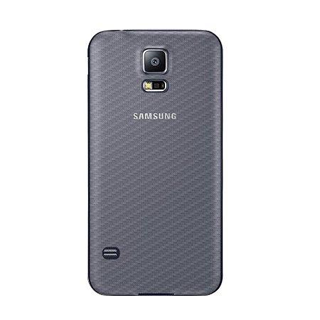 Película Traseira de Fibra de Carbono Transparente para Samsung Galaxy S5 - Gorila Shield