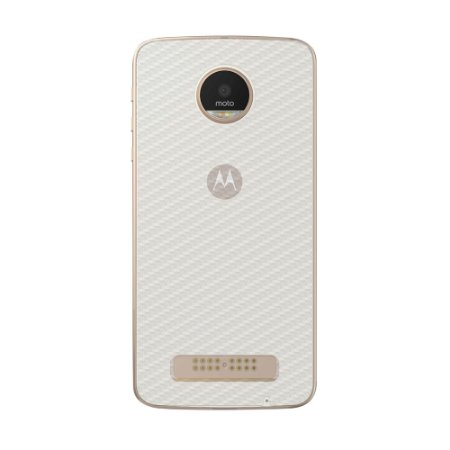 Película Traseira de Fibra de Carbono Transparente para Motorola Moto Z Power / Style - Gorila Shield