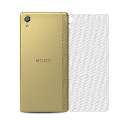 Película Traseira de Fibra de Carbono Transparente para Sony Xperia Z5 - Gorila Shield