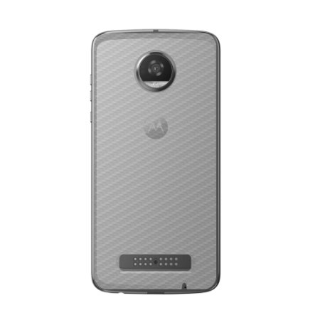 Película Traseira de Fibra de Carbono Transparente para Motorola Moto Z2 Play - Gorila Shield