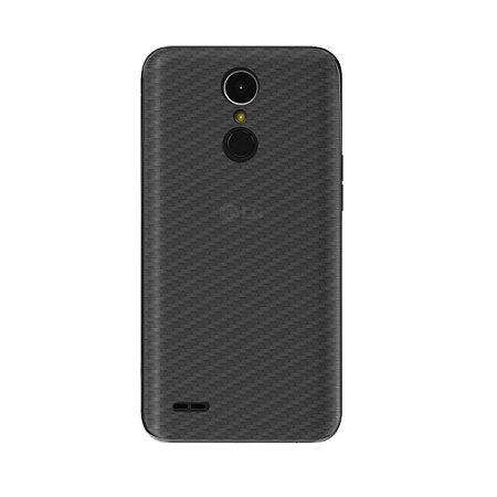 Película Traseira de Fibra de Carbono Transparente para LG K10 Power - Gorila Shield