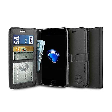 Capa Carteira Preta para - Iphone 6 e 6s - Gorila Shield