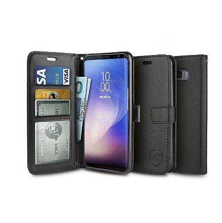 Capa Carteira Preta para Samsung Galaxy S8 Plus - Gorila Shield