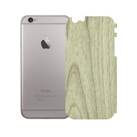 Skin Película Traseira Madeira Clara para Apple iPhone 6