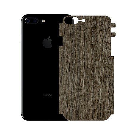 Skin Película Traseira Madeira Escura para Iphone 7 Plus - Gorila Shield