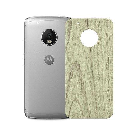 Skin Película Traseira Madeira Clara para Moto G5 - Gorila Shield