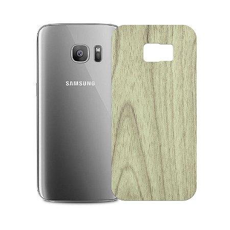 Skin Película Traseira Madeira Clara para Samsung Galaxy S7 Edge - Gorila Shield