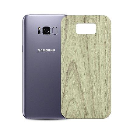 Skin Película Traseira Madeira Clara para Samsung Galaxy S8 - Gorila Shield