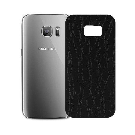 Skin Película Traseira Couro para Samsung Galaxy S7 Edge