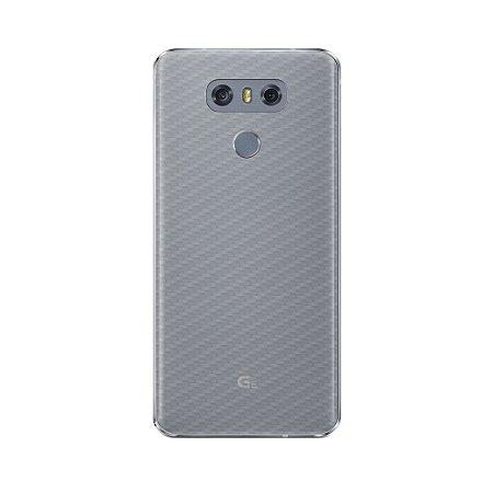 Película Traseira de Fibra de Carbono Transparente para LG G6 - Gorila Shield