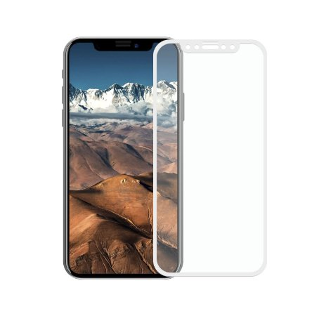 Película de Vidro Coverage Color para iPhone X - Branca - Gorila Shield (Cobre toda tela)