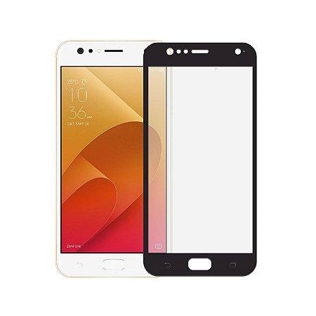 Película de Vidro Coverage Color para Asus Zenfone 4 Selfie ZD553KL - Preta - Gorila Shield (Cobre toda tela)