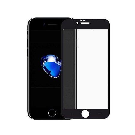 Película de Vidro Coverage Color para iPhone 8 Plus - Preta - Gorila Shield (Cobre toda tela)