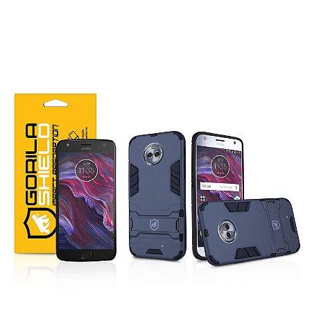 Kit Capa Armor e Película de vidro dupla para Motorola Moto X4  - Gorila Shield