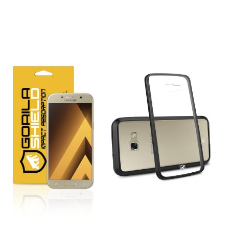 Kit Capa Ultra Slim Air Preta e Película de vidro dupla para samsung galaxy  A7 2017 - Gorila Shield