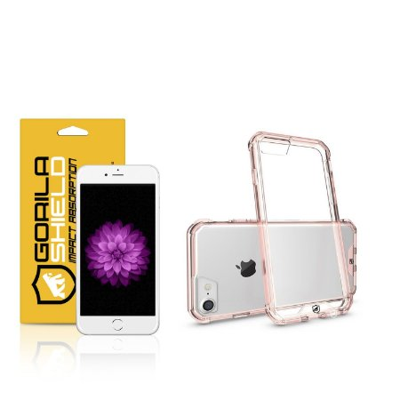 Kit Capa Ultra Slim Air Rosa e Película de vidro dupla para Iphone 6s – Gorila Shield