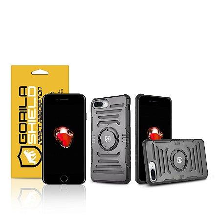 Kit Capa Armband 2 em 1 e Película de vidro dupla para iPhone 7 Plus - Gorila Shield
