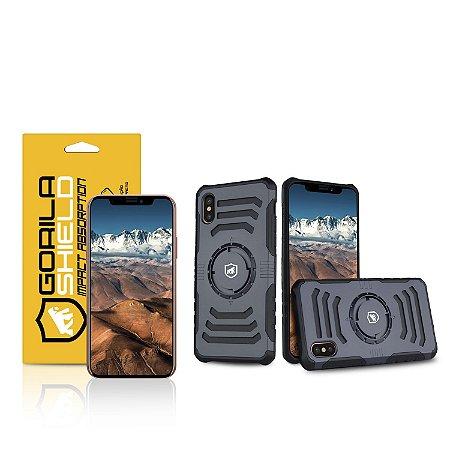 Kit Capa Armband 2 em 1 e Película de vidro dupla para iPhone X - Gorila Shield
