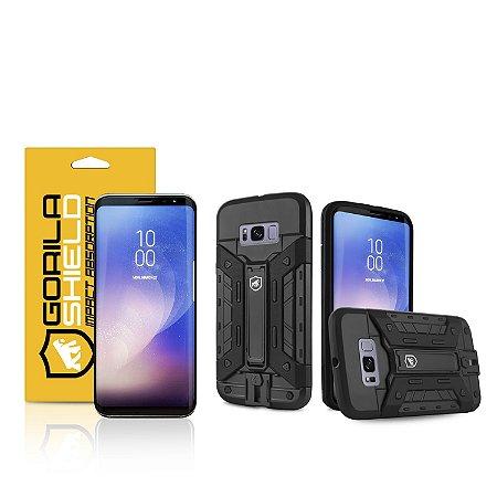 Kit Capa Guardian e Película Nano Gel dupla para Galaxy  S8 - Gorila Shield