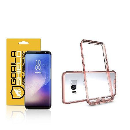 Kit Capa Ultra Slim Air Rosa e Película Nano Gel dupla para Samsung Galaxy  S8 - Gorila Shield