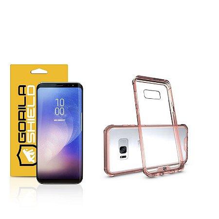 Kit Capa Ultra Slim Air Rosa e Película Nano Gel dupla para Samsung Galaxy S8 Plus  – Gorila Shield
