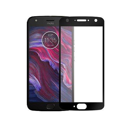 Película de Vidro Coverage Color para Motorola Moto X4 - Preta - Gorila Shield (Cobre toda tela)