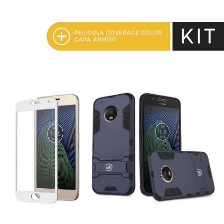 Kit Capa Armor e Película Coverage Branca para Moto G5 PLUS - Gorila Shield