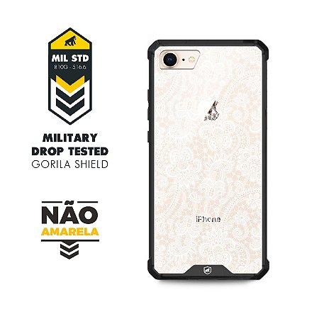 Capa Ultra slim Preta Rendada para iphone 7 e 8 - Gorila Shield