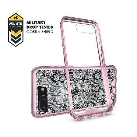 Capa Ultra Slim Rosa Rendada para iPhone 7 Plus/ 8 Plus - Gorila Shield
