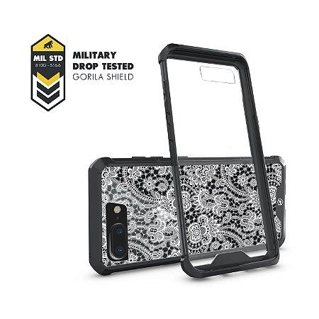 Capa Ultra Slim Preta Rendada para iPhone 7 Plus / 8 Plus - Gorila Shield