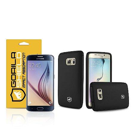 Kit Capa Protetora e Película de vidro dupla para Samsung Galaxy S6 - Gorila Shield