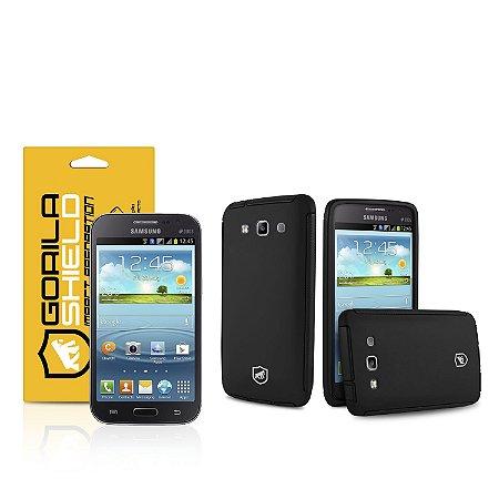 Kit Capa Protetora e Película de vidro dupla para Samsung Galaxy Win Duos  - Gorila Shield