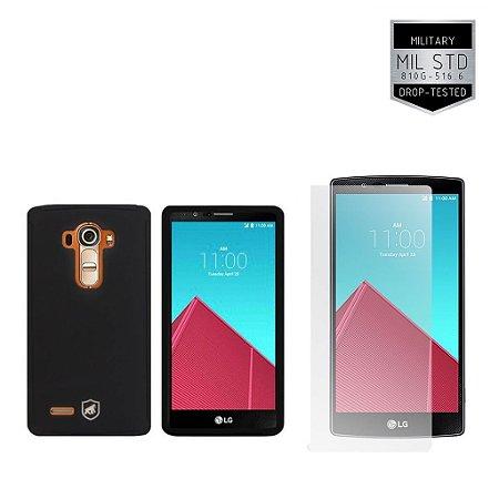 Kit Capa Protetora LG G4 e Pelicula de Vidro - Gorila Shield