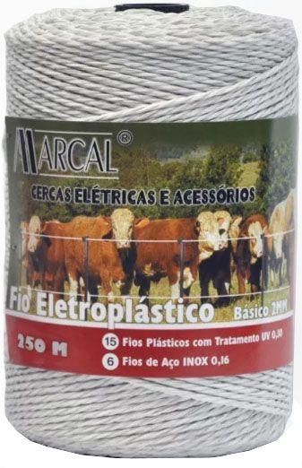 Fio Eletroplástico Para Cerca Elétrica Rural 250m x 2mm