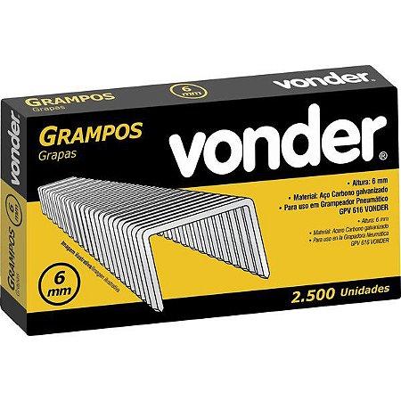 Grampos 6mm para Grampeador Pneumático GPV-616 Vonder