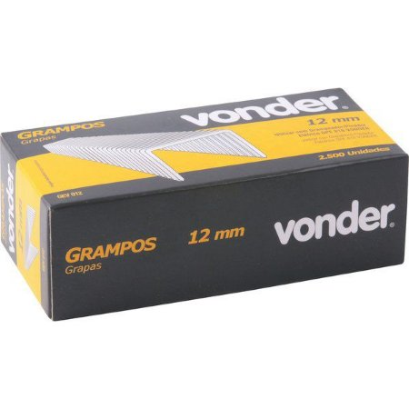 Kit com 2 Caixas Grampo 12mm Para Grampeador / Pinador Elétrico GPE 816 Vonder