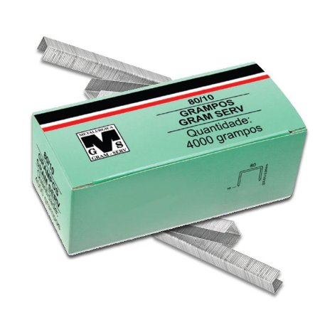 Caixa Com 4000 Grampos 10mm 80/10 Para Grampeador Rocama