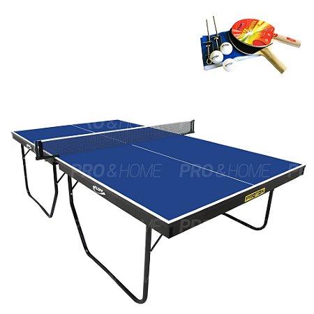 Kit Tênis de Mesa/ Ping Pong - Mesa 1090 c/ Raquete e Rede Klopf