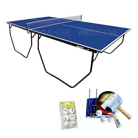 Kit Ping-Pong/ Tênis de Mesa Dobrável com Acessórios Klopf