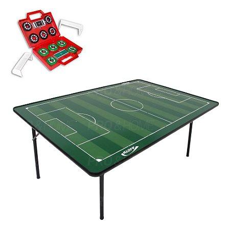 Kit Futebol de Botão com Campo e Maleta com 2 Times Klopf