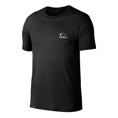Camiseta Dry Guartelá Preta Gola Careca