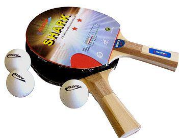 Kit Tenis De Mesa Raquete Lisa 3 Bolas 5055 Klopf