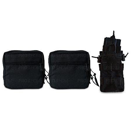 Kit 2 Porta Treco Utilitário + 1 Porta Carregador Duplo Fuzil 5.56 7.62 Modular Maynards