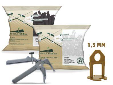 Kit Piso Porcelanato 600 Espaçadores + 100 Cunha + Alicate Nylon Eco