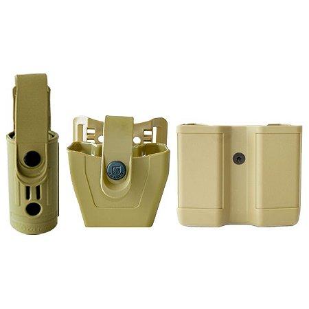 Porta Lanterna Só Coldres + Porta Algemas e Carregador Bélica